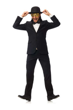Funny man isolated on white background