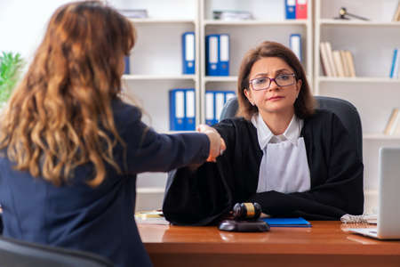 Young woman visiting female lawyer