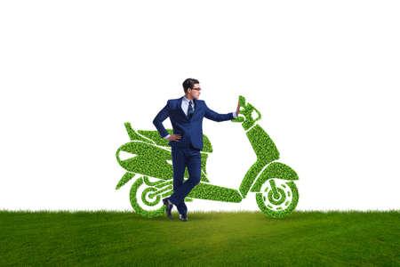 Grünes umweltfreundliches Fahrzeugkonzept Standard-Bild