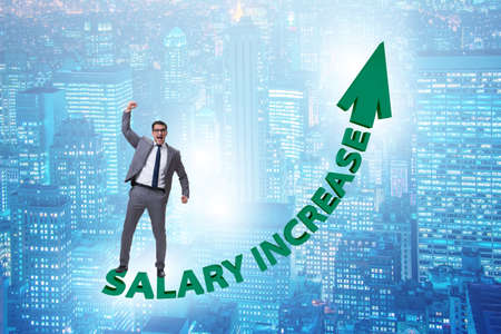 Employee in salary increase concept 写真素材 - 124632031