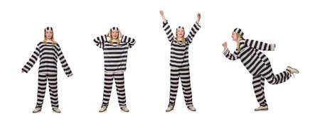 Prisoner isolated on the white background Standard-Bild - 124546758