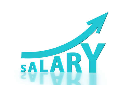 Concept of increasing salary - 3d rendering