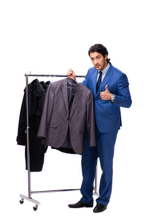 Young handsome businessman in clothing concept Reklamní fotografie