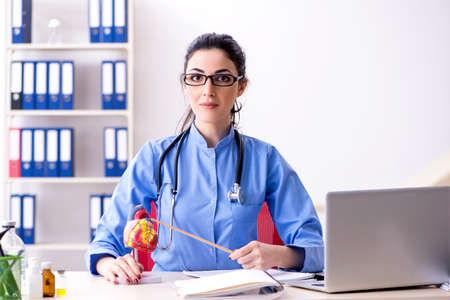 Young female doctor working in the clinic Stock Photo