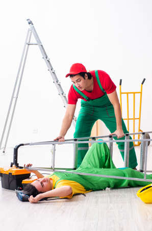 Injured worker and his workmate
