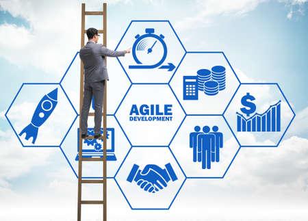 Concept of agile software development 스톡 콘텐츠