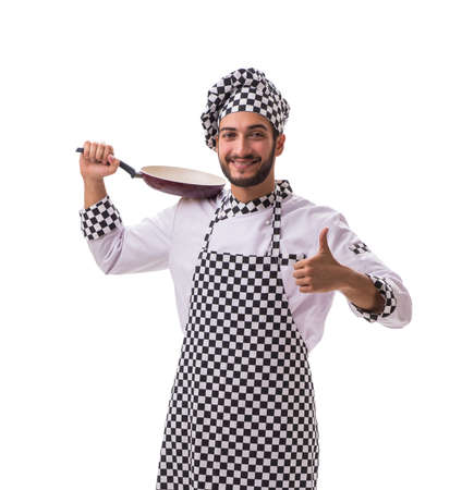 Male cook isolated on a white background