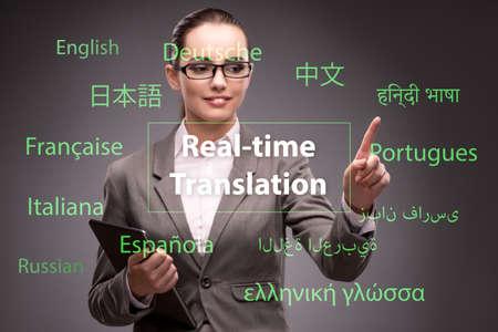 Concept of online translation from foreign language Banco de Imagens