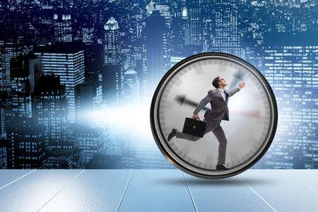 Empleado de empresario en concepto de gestión del tiempo