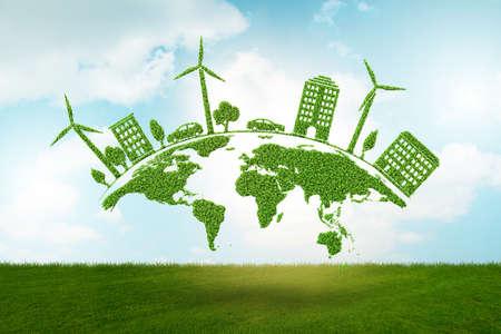 Concepto de protección del medio ambiente - representación 3d