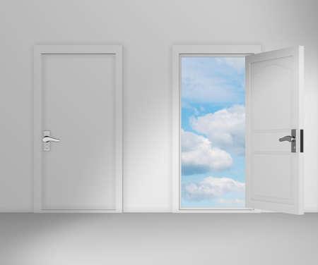 Konzept der Wahl mit vielen Türen Gelegenheit - 3D-Rendering