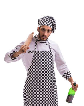Male cook isolated on the white background Banco de Imagens