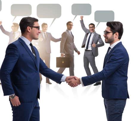 Cooperationa and teamwork concept with handshake 写真素材