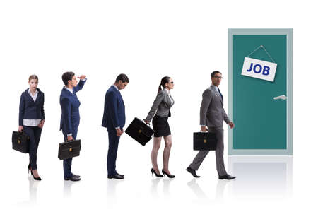 Recruitment concept with business people
