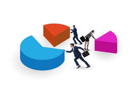 Business analytics concept with pie chart