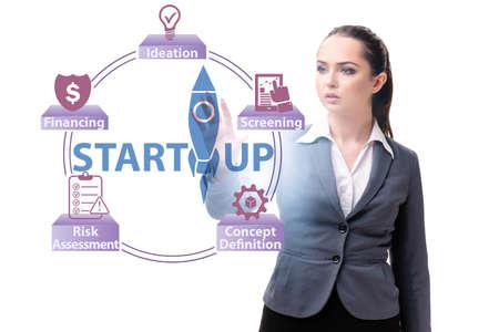 Concept of start-up and entrepreneurship Stock Photo
