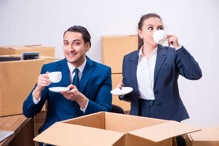 Two employees being fired from their work