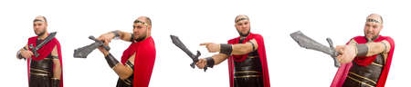 Gladiator isolated on white background Standard-Bild