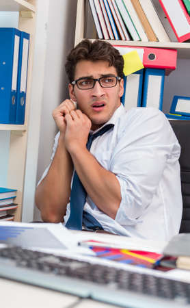 Angry and scary businessman in the office Stock Photo