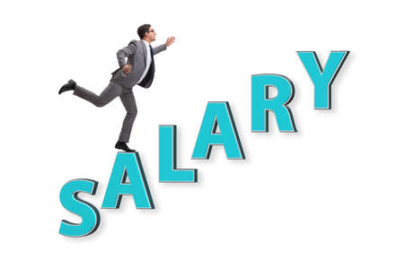 Concept of increasing salary with businessman