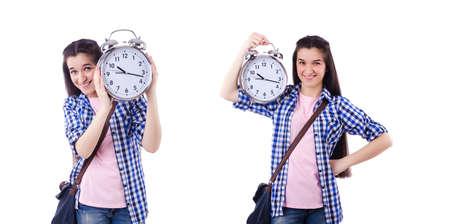 Student failing to meet deadlines for her studies Stockfoto