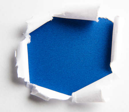 The torn paper with blank space for your message