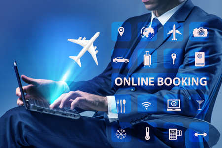 The concept of online booking for trip