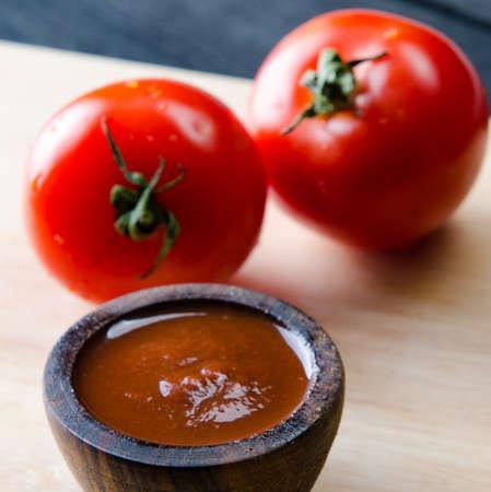 The ingredients ready for italian pasta sauce Stockfoto