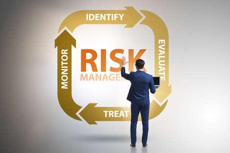 Concetto di gestione del rischio nel business moderno Archivio Fotografico