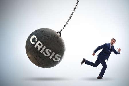 Businessman in crisis management concept Zdjęcie Seryjne - 129794944