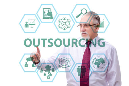 Concept of outsourcing in modern business Zdjęcie Seryjne - 129794949