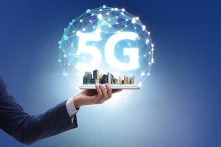 5G mobile technology concept - high internet speed Stock fotó
