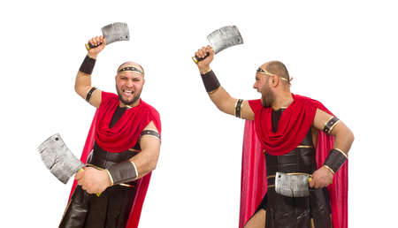 Gladiator isolated on white background 版權商用圖片