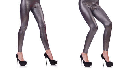 Woman legs in long stockings Archivio Fotografico - 129943165