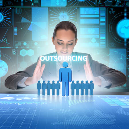 Concept of outsourcing in modern business Zdjęcie Seryjne - 129780942