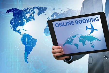 Concept of online air travel booking