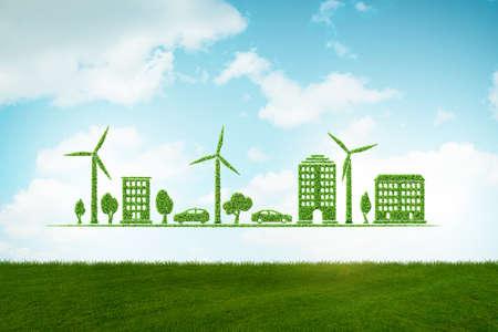 Énergie propre et environnement - rendu 3d