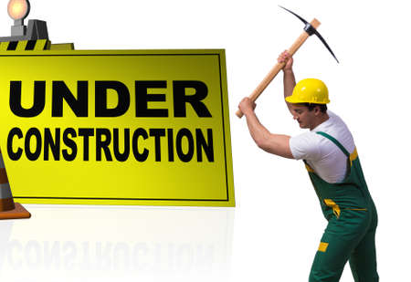 Concept of under construction for your webpage Imagens