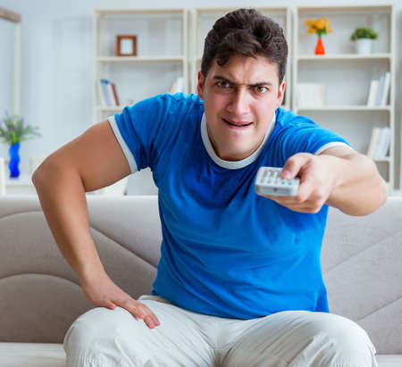 Man sweating excessively smelling bad at home