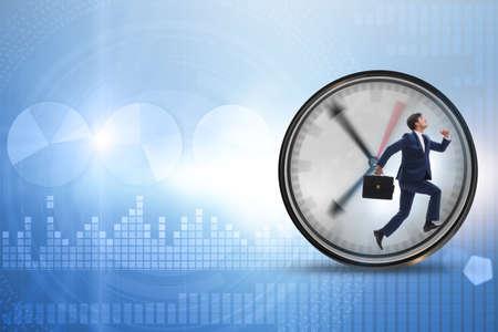 Businessman employee in time management concept Reklamní fotografie