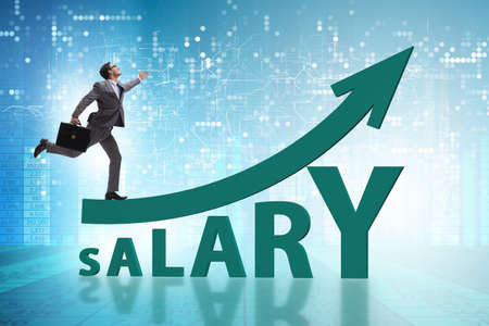 Concept of increasing salary with businessman Stock fotó