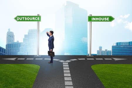 Imprenditore al bivio per decidere tra outsourcing e inhou