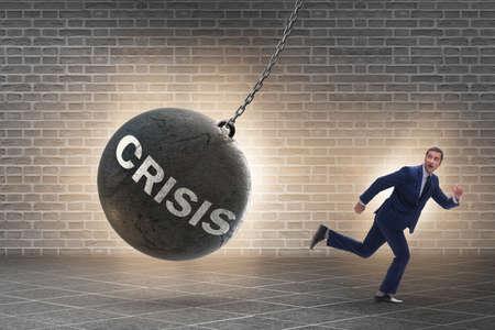 Businessman in crisis management concept 스톡 콘텐츠