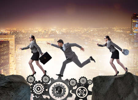 Teamwork concept with business people Stock Photo