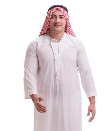 Arab businessman isolated on white background Reklamní fotografie
