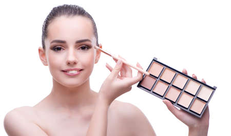 Young beautiful female fashion model with make up