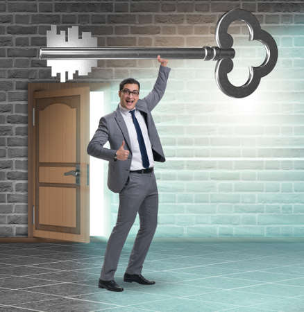 Concept with key to success illustration Фото со стока