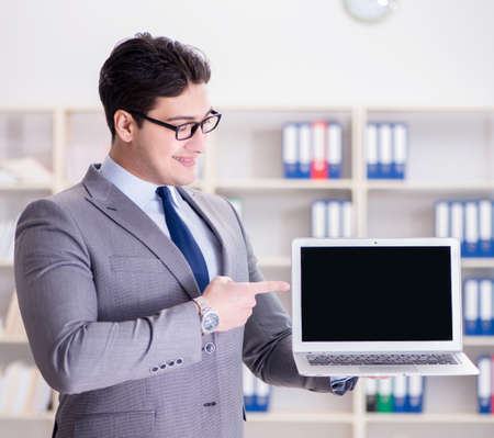 Young businessman working in the office Stock fotó