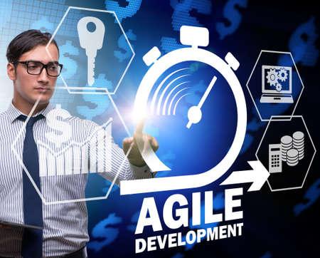Concept of agile software development Stok Fotoğraf