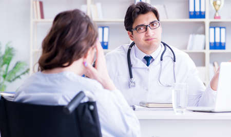 Doctor sharing discouraging lab test results to patient